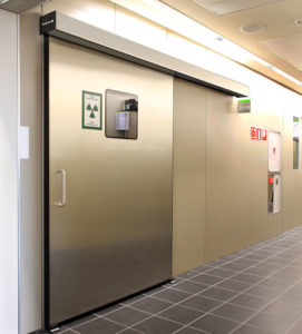 рентгенозащитная автоматическая дверь